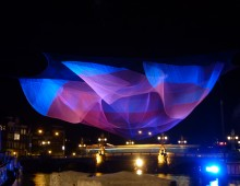 Janet Echelman at Amsterdam Light Festival