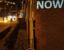 'NOW' in Illuminade Amsterdam Light Festival