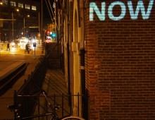 'NOW' in Illuminade Amsterdam Light Festival