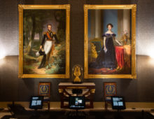Royal portraits at the Dam Palace in Amsterdam